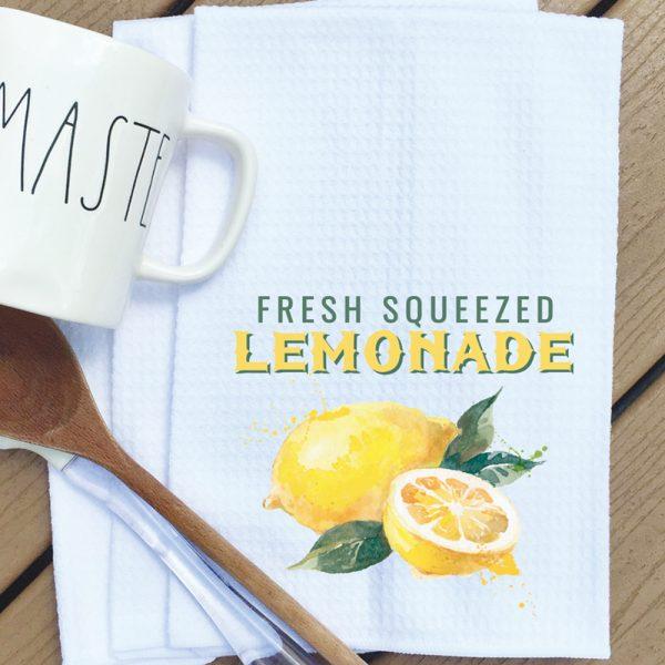 Tea towel fresh squeezed lemonade
