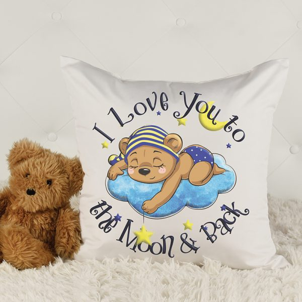 Cushion cover I love you to the moon and back