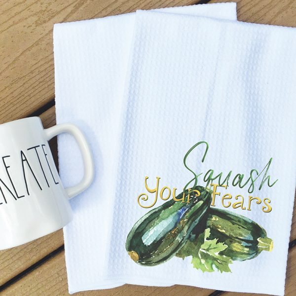 Tea Towel - Squash your fears