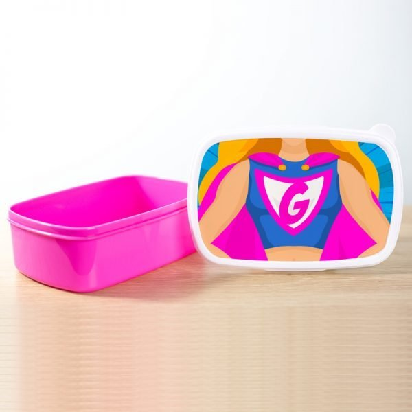 Lunchbox superhero girl