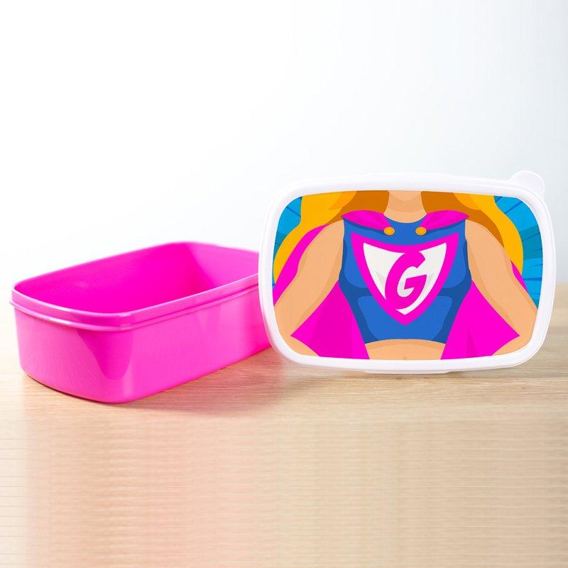 Lunchbox superhero girl