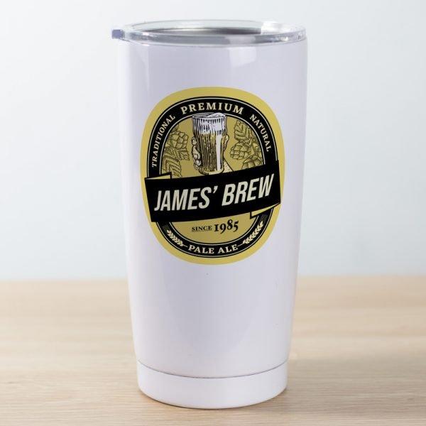 Travel mug pint beer