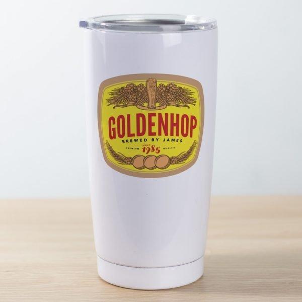 Travel mug golden hop
