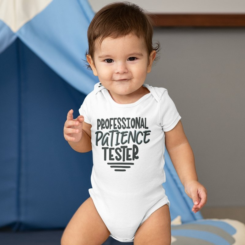Toddler Shirt Christmas Onesie Mother/'s Day Gift Funny Onesie Sarcastic Onesie Professional Patience Tester Onesie Christmas Toddler