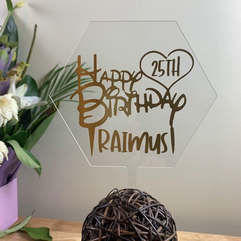 Acrylic Cake/Plant Toppers